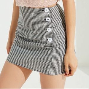 Urban outfitters plaid side button mini skirt